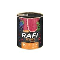 Консервa за кучета Rafi Adult с патица и боровинки, 400гр
