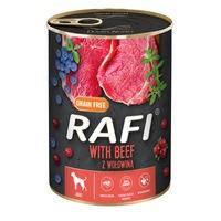 Консервa за кучета Rafi Adult с говеждо и боровинки, 400гр