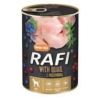 Консервa за кучета Rafi Adult с пъдпъдък и боровинки, 400гр