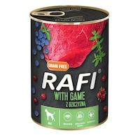 Консервa за кучета Rafi Adult с дивеч и боровинки, 800гр