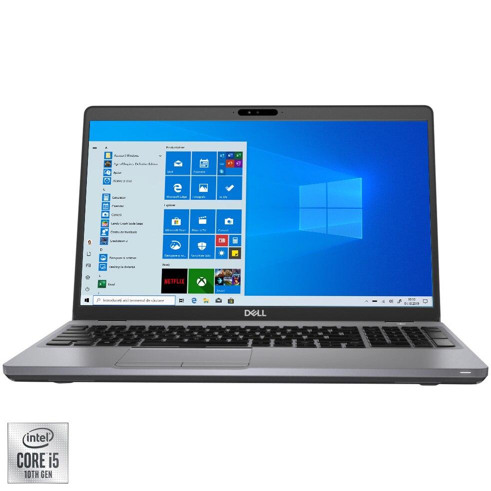 "Fotografie Laptop Dell Latitude 5511 cu procesor Intel Core i5-10400H pana la 4.60 GHz, 15.6"", Full HD, 8GB, 256GB SSD, Intel UHD Graphics, Windows 10 Pro, Carbon fiber"