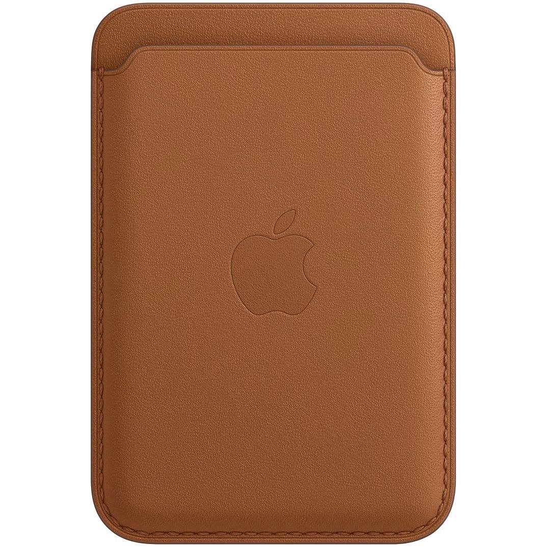 Fotografie Husa de protectie Apple Leather Wallet MagSafe pentru iPhone, Saddle Brown