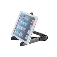 Összecsukható asztali tablet tartó / táblagép állvány - fekete