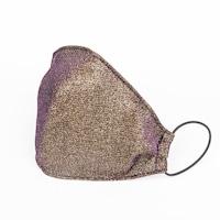 3 rétegű mosható textil karácsonyi maszk G3 szűrővel - Gold n Purple- M (női) méret