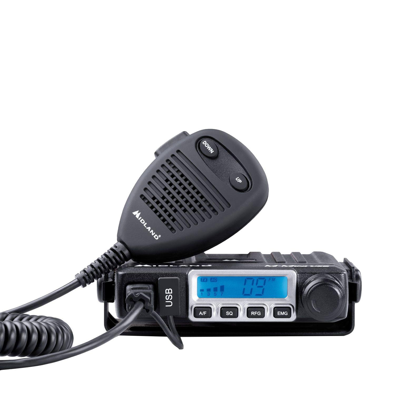 Fotografie Kit Midland CB GO-USB Statie radio CB M-MINI USB + Antena Midland LC29