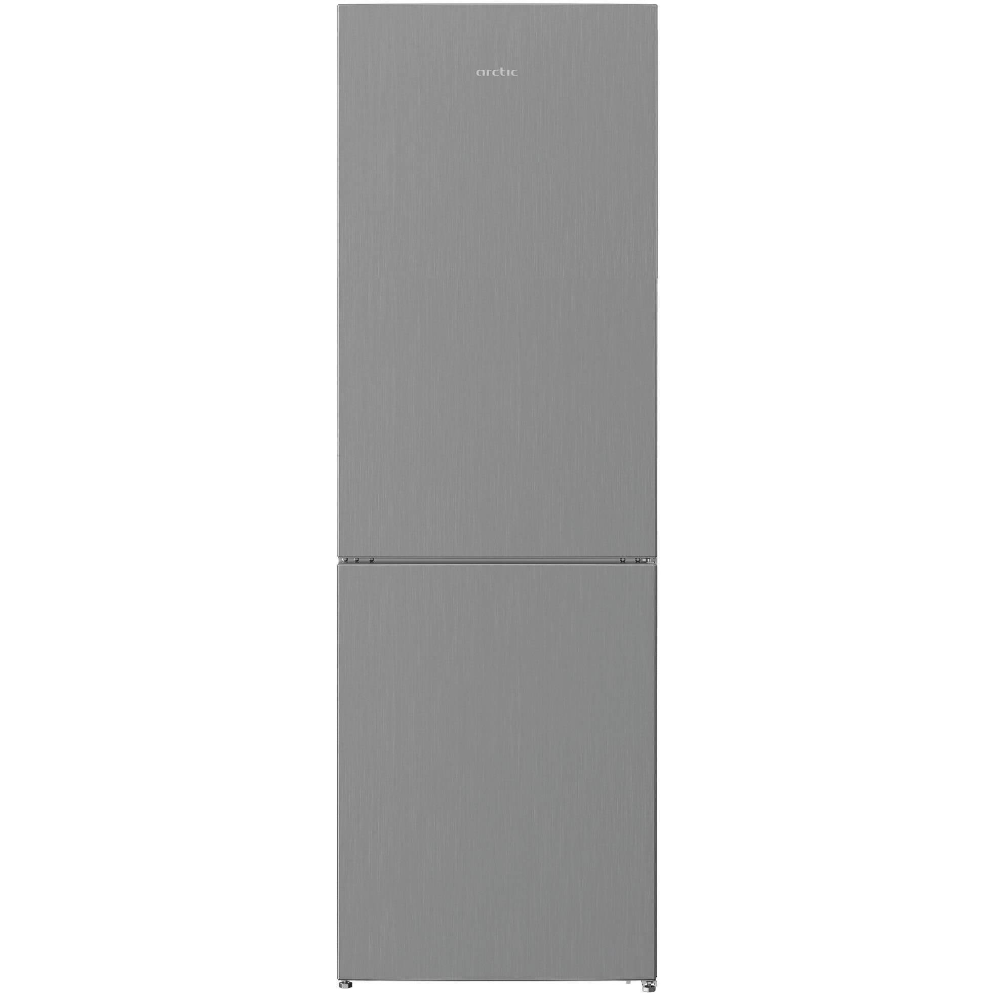 Fotografie Combina frigorifica Arctic AK60366M30NFMT , 324 l, Clasa F, Full No Frost, Garden Fresh, Air Flow Dual Tech, H 185.2 cm, Argintiu