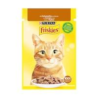 Мокра храна за котки Friskies Adult, Пуешко в сос, 26 x 85 гр