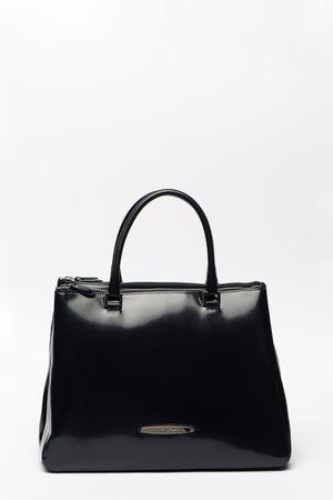 Pierre Cardin, Лачена кожена чанта за рамо Spazzol, Тъмносин