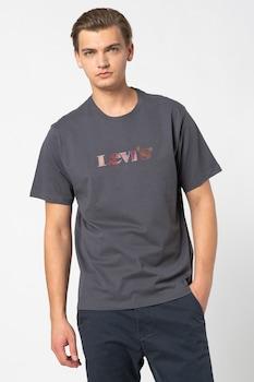 Levi's, Mintás póló hímzett részlettel, Szürke