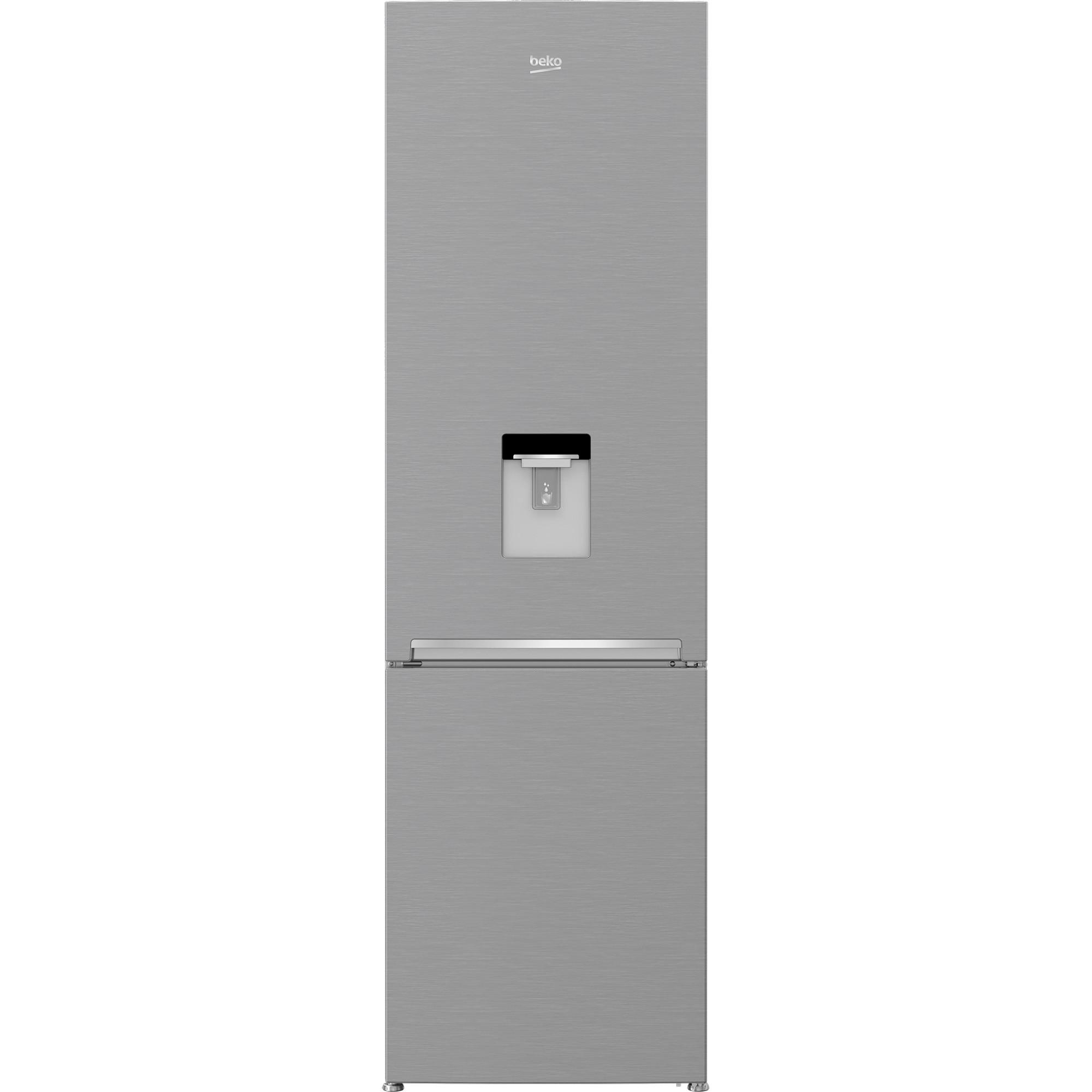 Fotografie Combina frigorifica Beko RCSA406K40DXBN, 386 l, Clasa E, Dozator apa, H 202.5 cm, Argintiu