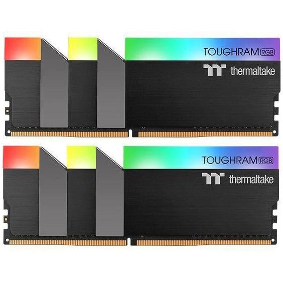 Fotografie Memorie Thermaltake ToughRAM RGB, 32GB DDR4, 3200MHz CL16, Dual Channel Kit