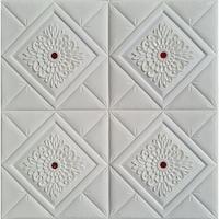 Tapéta DEGRETS 99223 Öntapadós 3D, fehér-piros, Méret: 70 cm x 70 cm x 8 mm