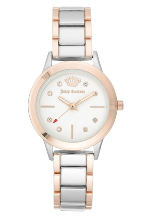 Juicy Couture, Иноксов часовник с двуцветен дизайн, Сребрист