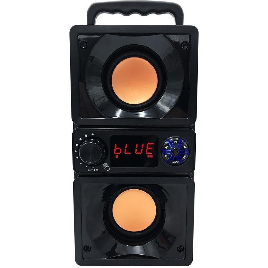 Fotografie Boxa portabila 2.2 Media-Tech BOOMBOX DUAL BT, Bluetooth, Radio FM, MP3, USB, Telecomanda, MicroSD, RMS 15W, Negru