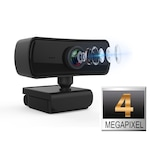Camera Web BabyToy™ CX-W100 Pro, 4MP , Webcam, Dual Microfon, Auto-Focus, Conectare PC/Laptop, rezolutie 2560*1440 @30fps, corectie automata de culoare, negru