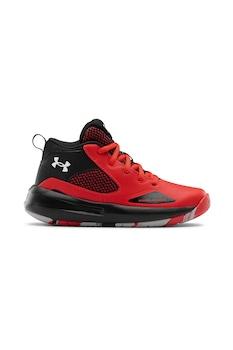 Under Armour, Баскетболни кожени обувки Lockdown 5 с мрежа