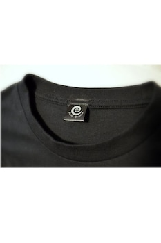 Tricou Cubul lui Metatron pictat manual, Negru/Albastru, 100% Bumbac, Negru