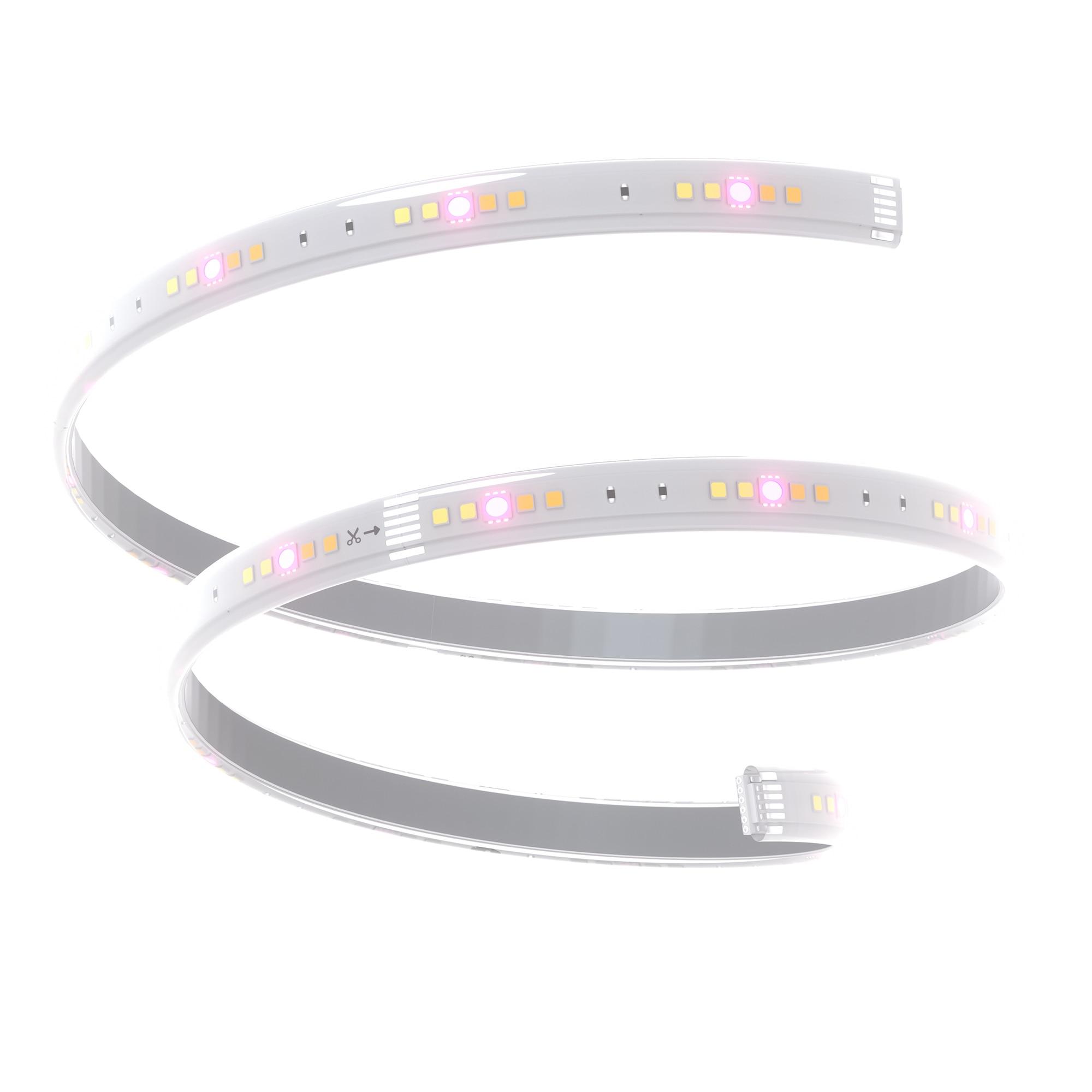 Fotografie Extensie banda LED inteligenta Nanoleaf Essentials Light Strips Expansion, 30W, 2000 lm, lumina alba si colorata, 1 m