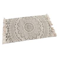 Nyomott mintás szőnyeg-bézs