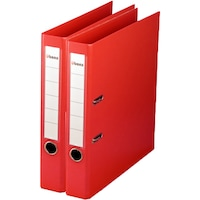 Biblioraft A4 PVC 50mm Ubers , Rosu , 2buc/set
