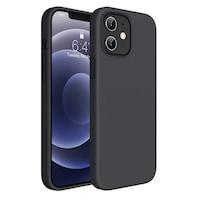 Силиконов Кейс за iPhone 12 Mini, Противоударен, Черен