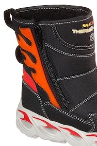 pantofi clasici ai grijă la magazin de vânzare Skechers, Cizme de iarna Thermo Flash Heat, Negru/Rosu vermilion, 30 EU -  eMAG.ro