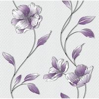 Tapéta DEGRETS 1299 Papír, Louisa lila, Méret: 0.53m x 10.05m = 5.3 m2