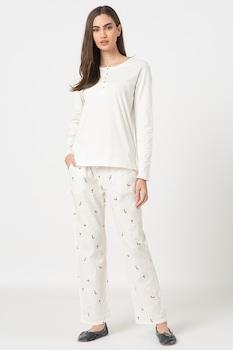 Triumph, Character pizsama kis rókás mintával, törtfehér/barna/lila