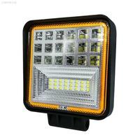 Autó LED-Vetítő Flexzon, Fehér és Narancssárga, 11cm, 42 LED-es Fémházas, 126W Teljesítmény, 6300 lumen, Szuper Erős