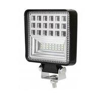 Autó LED-Vetítő Flexzon, Fehér, 11cm, 42 LED-es Fémházas, 126W Teljesítmény, 6300 lumen, Szuper Erős