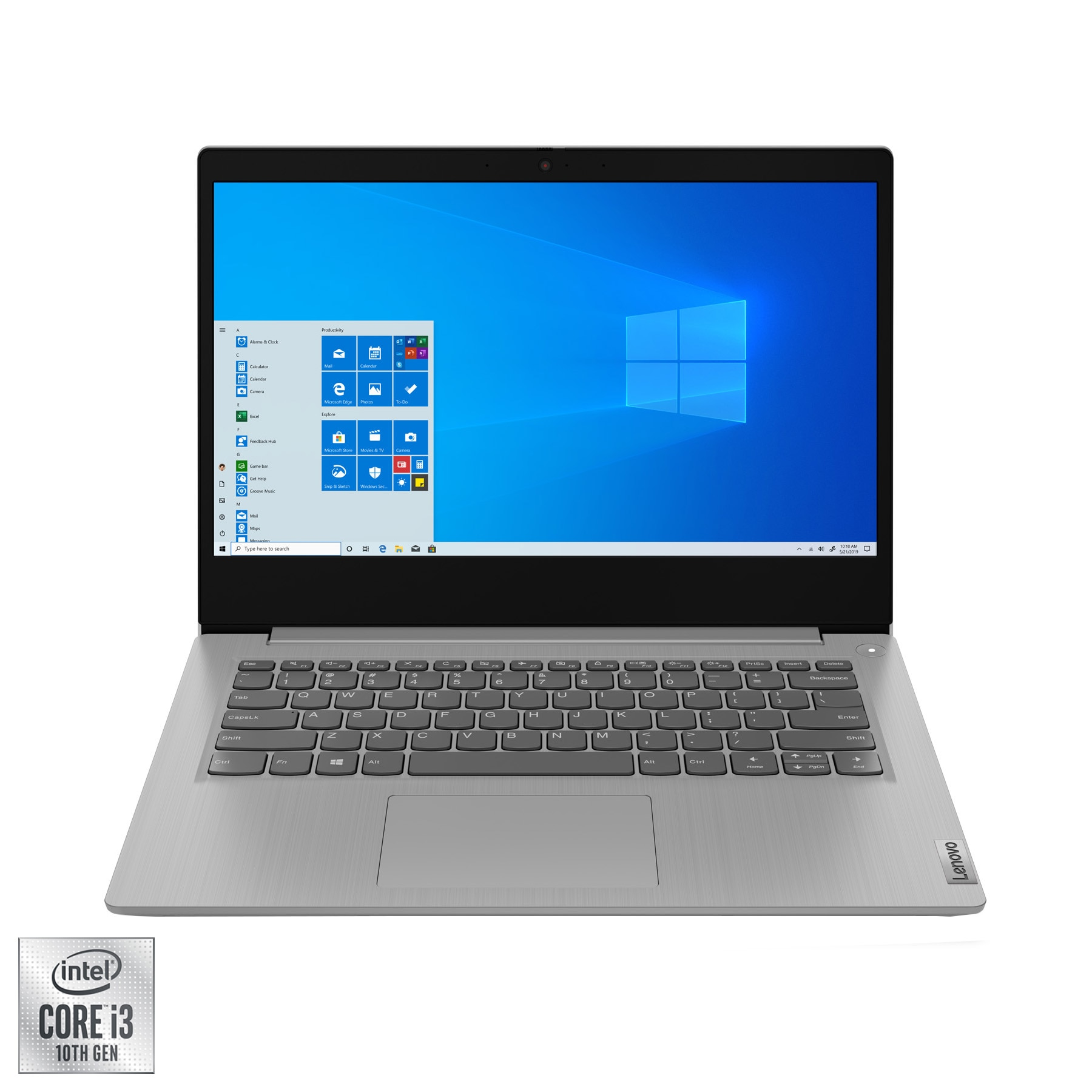 "Fotografie Laptop ultraportabil Lenovo IdeaPad 3 14IIL05 cu procesor Intel Core i3-1005G1 pana la 3.40 GHz, 14"", Full HD, 4GB, 128GB SSD, Intel UHD Graphics, Windows 10 Home S, Iron Grey"