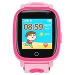 Ceas smartwatch GPS copii TechONE™ Q11, camera foto, buton SOS, localizare LBS + Foto, rezistent la apa, touchscreen, agenta telefonica, functie telefon, monitorizare spion, afisare meteo, blocare in timpul orei, chat text/voce, roz