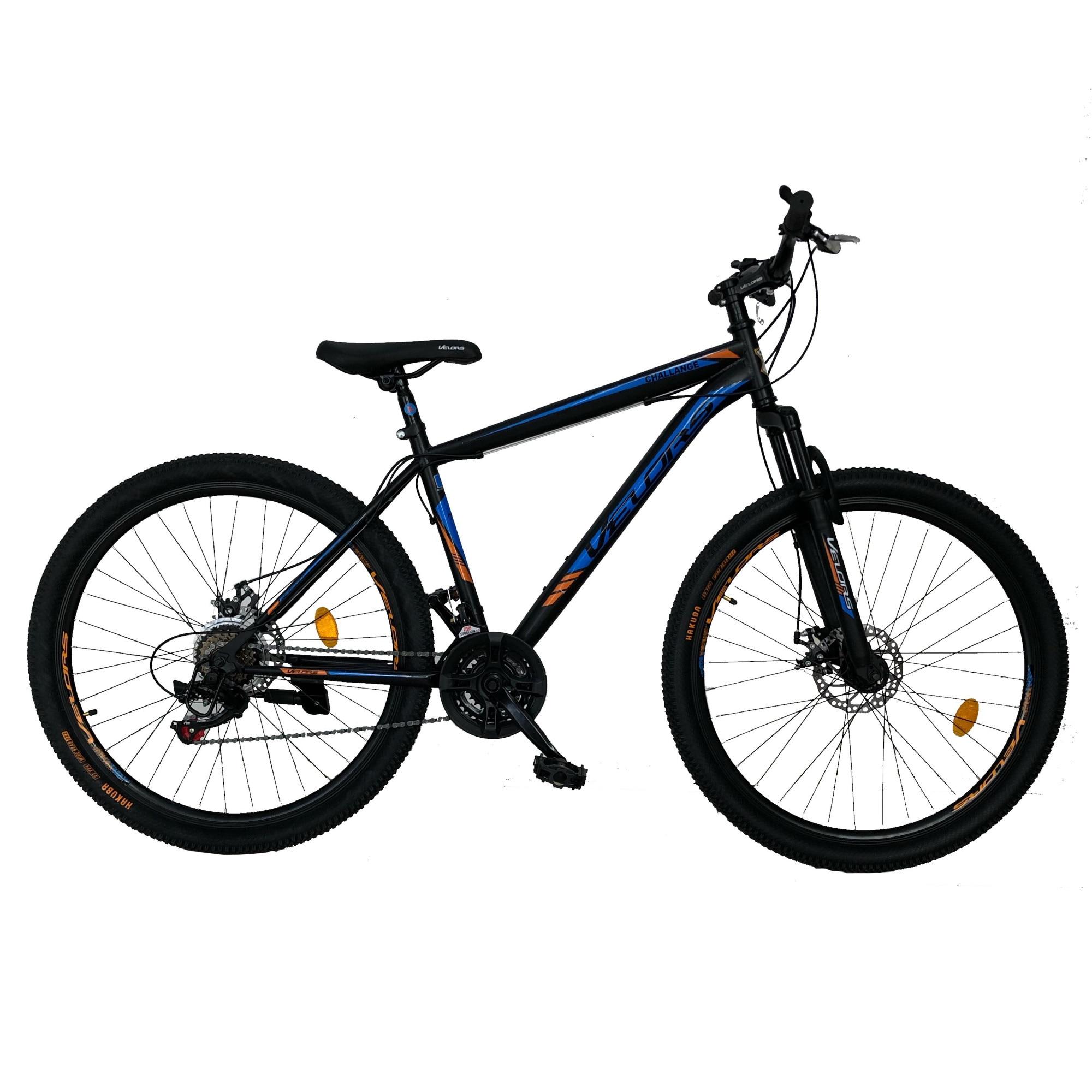 "Fotografie Bicicleta MTB Velors 27.5"" V2710A HT, Negru/Albastru/Portocaliu"