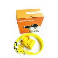 Електронен нашийник каишка, Бийпър за лов, водоустойчив, жълт