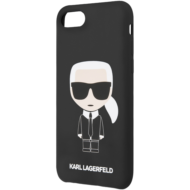 Fotografie Husa de protectie Karl Lagerfeld Iconic Silicone Body pentru iPhone 7/8/SE 2, Black