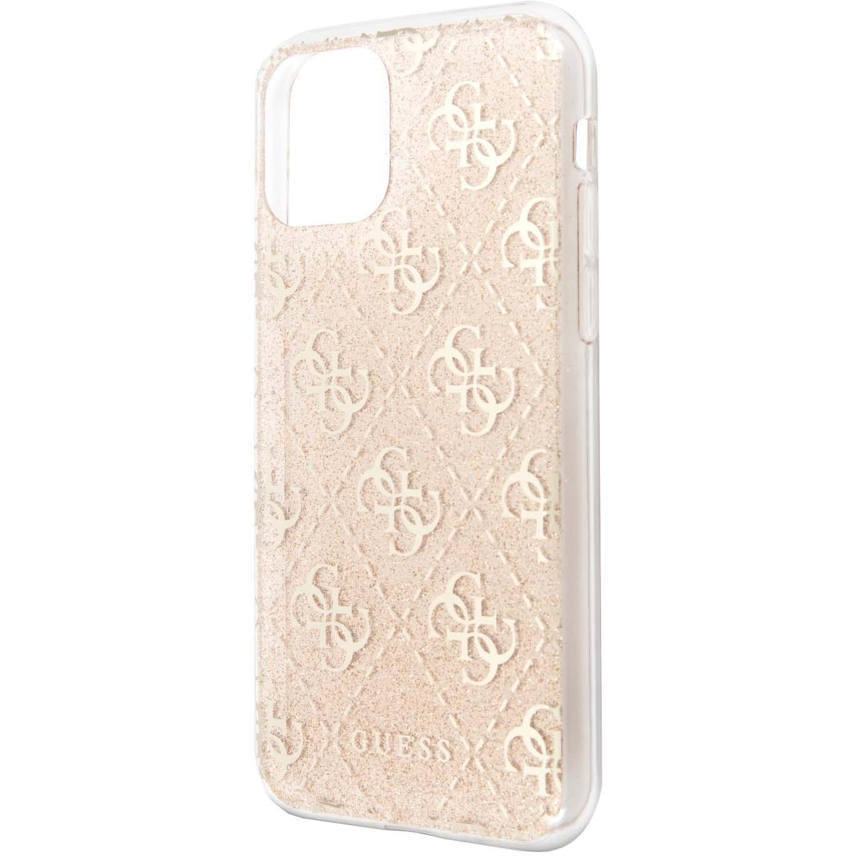 Fotografie Husa de protectie Guess Glitter 4G pentru iPhone 11 Pro Max, Gold