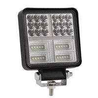 Autó LED-Vetítő Flexzon, Fehér és Narancssárga, 10,7cm, 54 LED-es Fémházas, 162W Teljesítmény, 8100 lumen, Szuper Erős