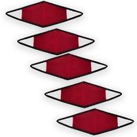 2 Rétegű Textil Maszk, S/M, Piros-Fekete, 5db