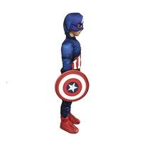 Детски карнавален костюм HuxyMascots Капитан Америка размер 134