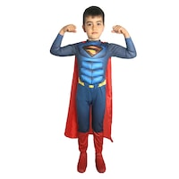 Детски карнавален костюм HuxyMascots Супермен, размер 128