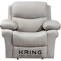 Фотьойл Kring Armada, С накланяне и 3 степени на комфорт, Плат, 107 x 98 x 100 см, Бежов