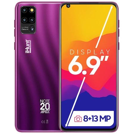Telefon mobil iHunt Note 20 Apex 2021, Dual SIM, 16GB ROM, 2GB RAM, 3G, 6.9-inci HD+ IPS, Android 9, 3600mAh, Camera 13MP, Purple