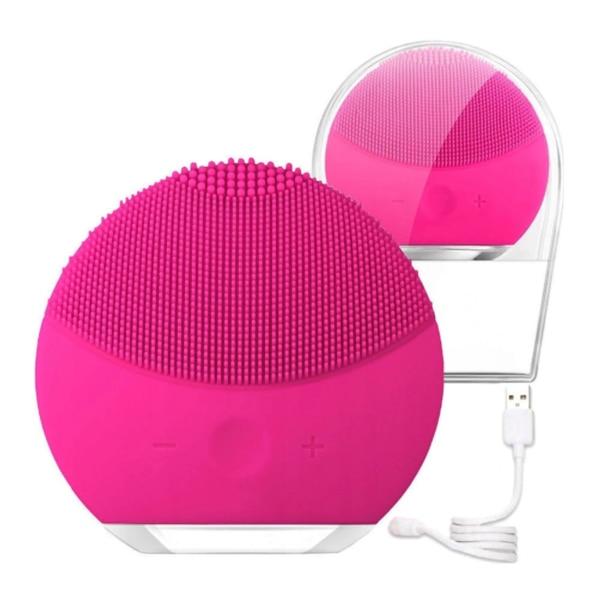 Почистващ препарат за лице Forever, И масаж, Водоустойчив, Захранване с  USB, Розов - eMAG.bg