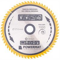 Диск за циркуляр Powermat PM0899 TDD-255x30mm, 60 зъба