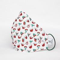3 rétegű mosható textil karácsonyi maszk G3 szűrővel - Mikulás - S (gyerek ) méret