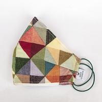 3 rétegű mosható textil maszk G3 szűrővel - háromszöges - S (gyerek) méret