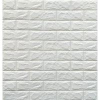 Selling Depot 3D Öntapadó Tapéta, modern kivitelben, 77x70cm, dombornyomott tégla modell, fehér