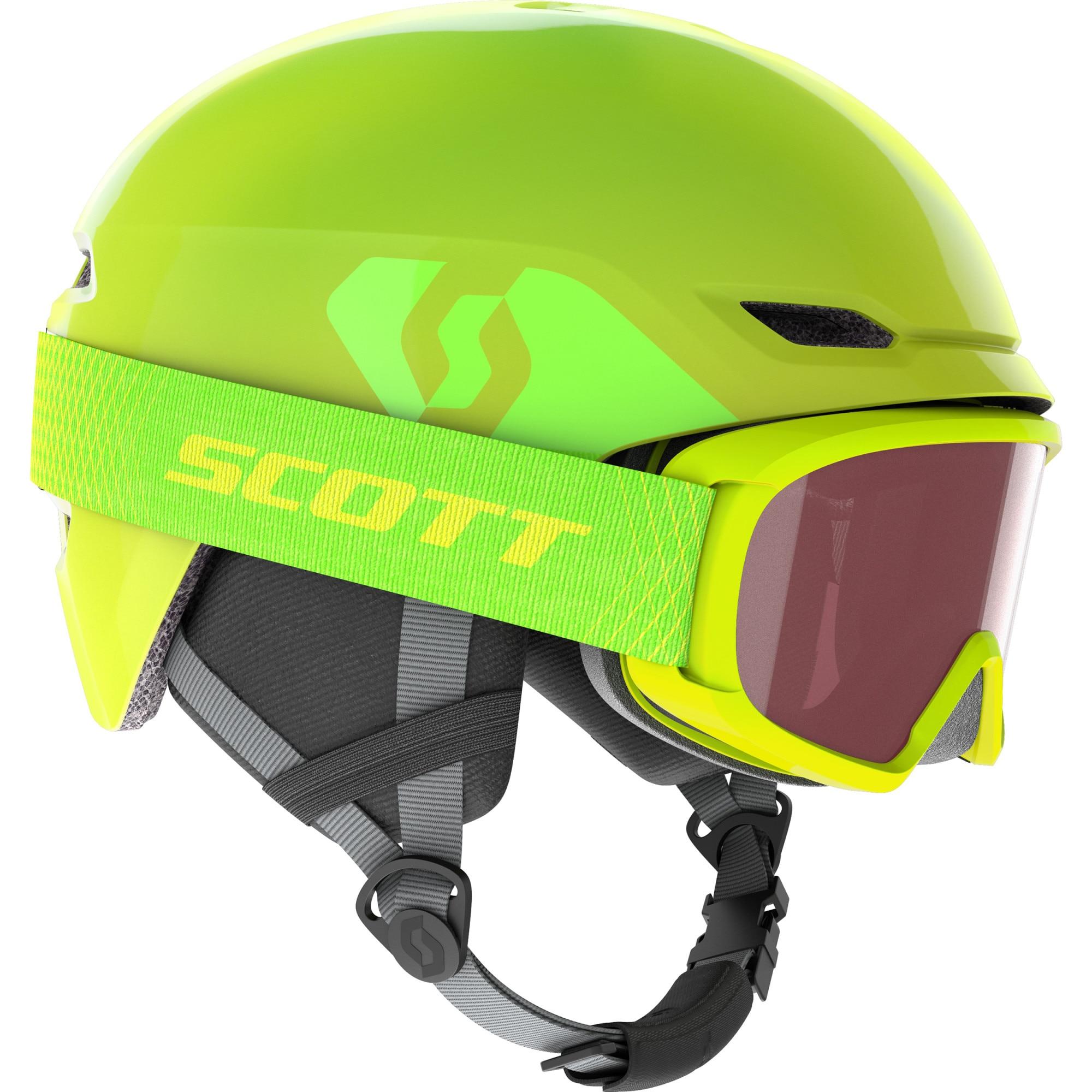 Fotografie Set schi Scott casca Keeper 2 + ochelari Witty, Copii, Verde, S