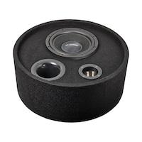 Gladen audio RS 10 round box subwoofer reflex ládában 25cm pótkerék helyére