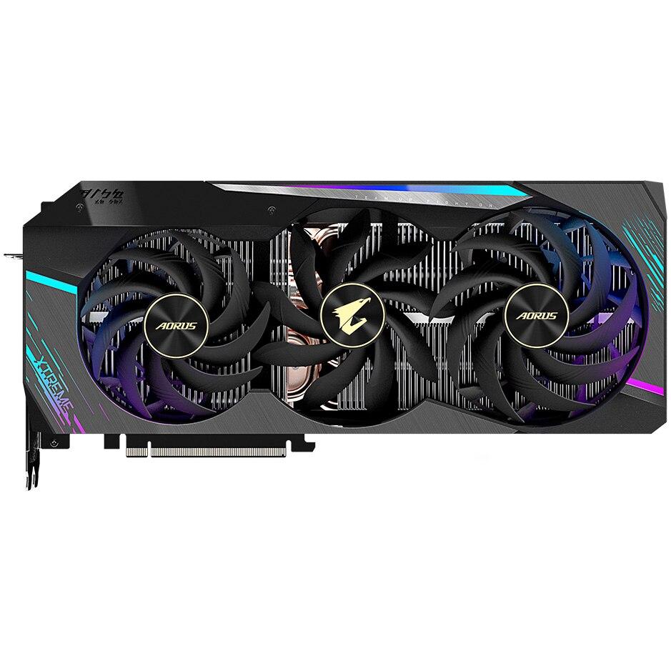 Fotografie Placa video Gigabyte AORUS GeForce® RTX™ 3090 XTREME, 24GB GDDR6X, 384-bit
